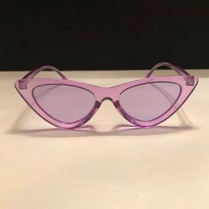 Accessories - Transparent purple frame and lens sunglasses